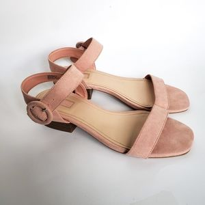 Forever 21 Faux Suede Strappy Buckle Sandals